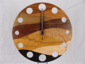 手作り木製電波掛け時計 ウェーブ