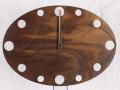 手作り木製電波掛け時計 ウォールナット
