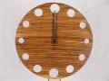 手作り木製電波掛け時計 ゼブラウッド