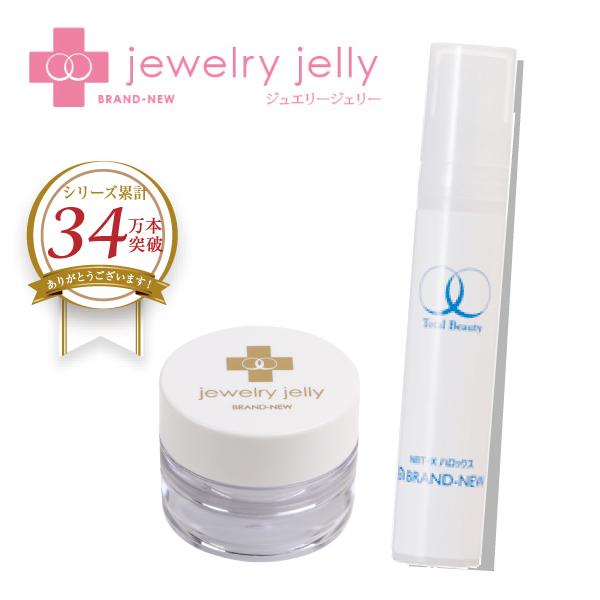 集中美容液「ハロックス美容液」とジェリー状美容液のミニサイズ「ジュエリージェリー10g」のセット