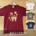 monomoni(モノモニ)|半袖Tシャツ|お花畑で動物たちが遊んでいるイメージ♪透け感のあるプリントがオシャレなイラストTシャツ