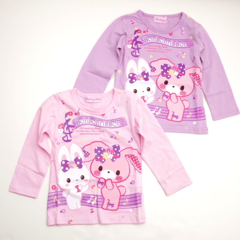 サンリオ ぼんぼんりぼん 長袖Tシャツ 100cm-110cm  (643BO4011)