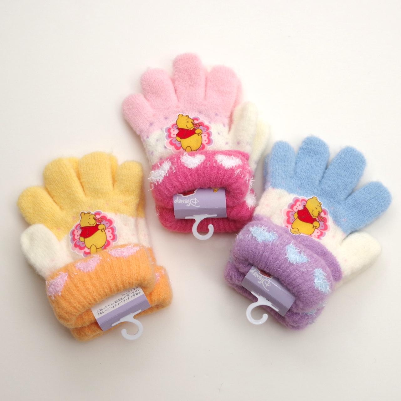 Disney(ディズニー)プーさん手袋 のびのび五指タイプ 15cm  (1610-1695)