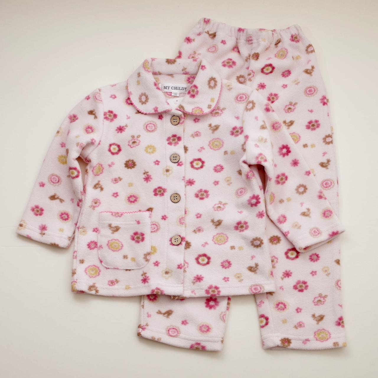女児 パジャマ 裏綿100% 100cm-150cm (642510)
