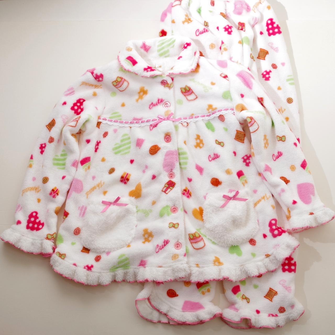 女児 もこもこパジャマ ジュニア 140cm/150cm (99605)