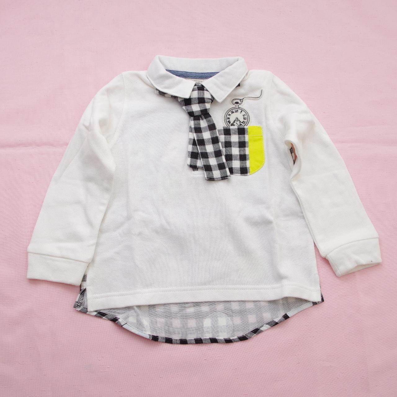 マザーグースMOTHER GOOSE  ネクタイ付Tシャツ 90cm-120cm (11149-170)