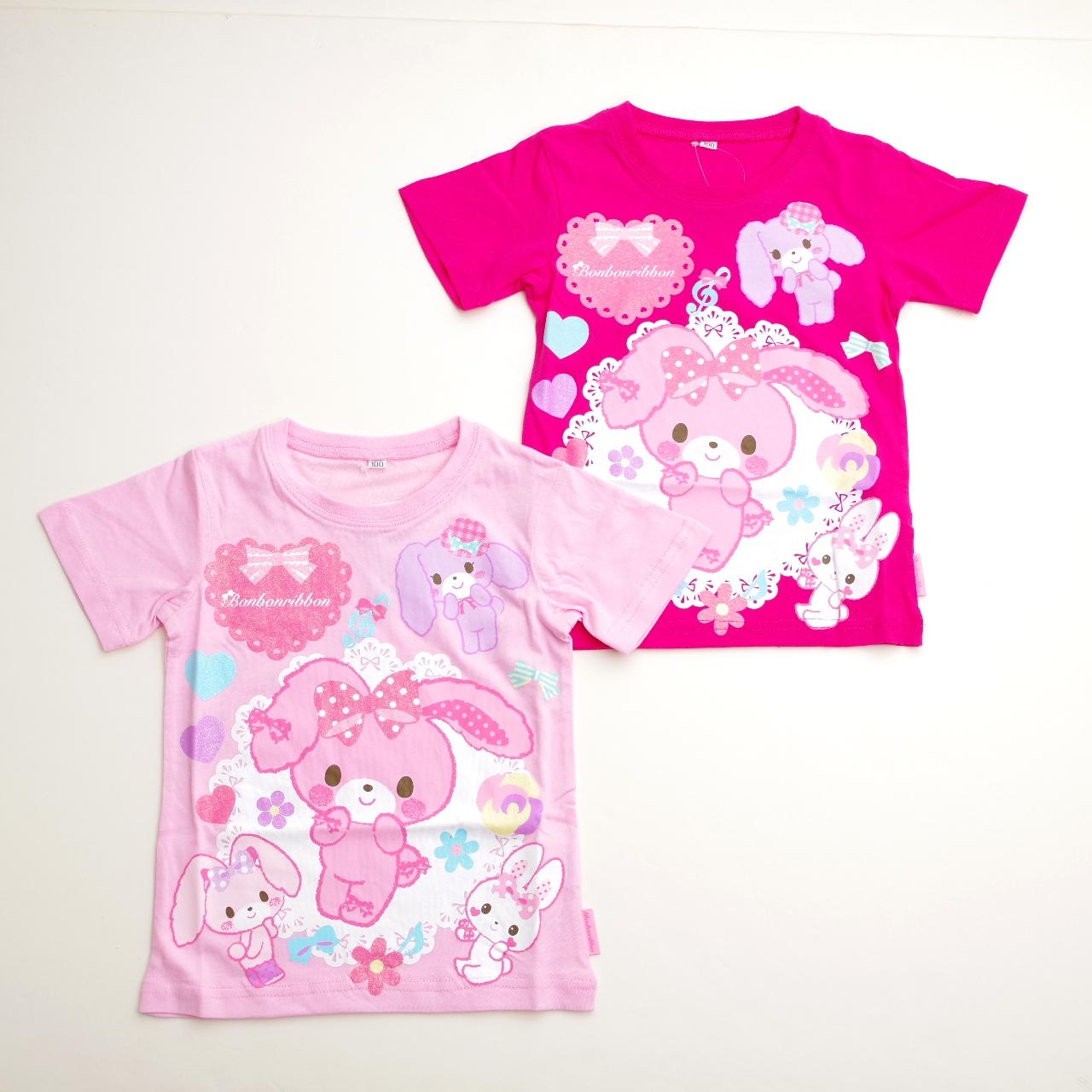 サンリオ ぼんぼんりぼん 半袖Tシャツ 100cm-130cm (742BO0011)