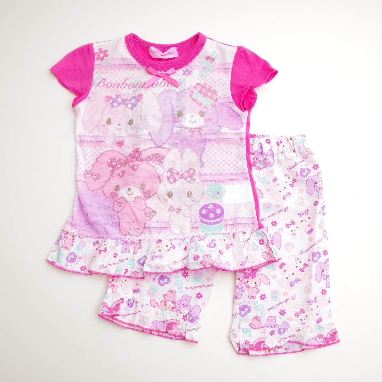 サンリオ ぼんぼんりぼん  光る半袖パジャマ 100-130cm(732BO004113)