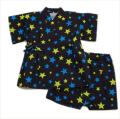 日本製 甚平スーツ 祭り 男の子 星柄 80cm(320915)