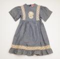 日本製 チャイルドのレイヤード半袖ミディアム丈のワンピース (1610-0749)