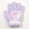 日本製 サンリオ ぼんぼんりぼん 手袋 5本指 13.5cm ライトパープル (BB1610-135-PP)