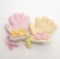 日本製  ひも付き手袋 のびのび五指タイプ 12.5cm 花  (1610-1761)