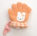 日本製  ひも付き手袋 のびのび五指タイプ 12cm ウサギ (1610-1766)
