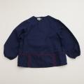 チャイルドの長袖スモック 紺色 3-4才用 (1611-2051)
