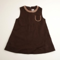 日本製 チャイルドのジャンパースカート 茶色 95cm (1611-2353)