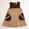 日本製 チャイルドのジャンパースカート 犬茶色 5−6才用 (110cm) (1611-2414)