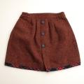 日本製 Chaparralブラウンのスカート 110cm (1611-2441)