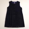 日本製 チャイルドのジャンパースカート 紺色 7-8才用 (120cm) (1611-2457)