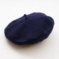 日本製 チャイルドのベレー帽 帽子 Mサイズ  紺色 52cm(1612-2522)