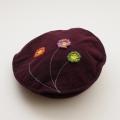 日本製 刺繍つき帽子 ベレー帽 56.5cm (1701-2978)