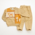日本製 おとぎの国のニットセータースーツ ベージュ 1才 (1701-3258)