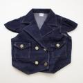 日本製 肩袖付きジャケット 上着 ネイビー 5才/7才 (1701-3311)