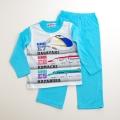 でんたま(新幹線) Tシャツ生地の長袖パジャマ 100cm/110cm/120cm/130cm(732DT108113)