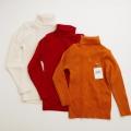 日本製 フクスケPimの上品な柔らかニットセーター(タートルネック) 100cm-120cm (1702-3831)