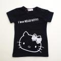 サンリオ ハローキティ 半袖Tシャツ ブラック90〜95cm(510000-16-1)