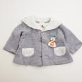 日本製 セーラーカラーの刺繍つきお洋服  12か月 (0703-4190)