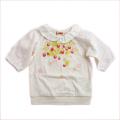 Souris(スーリー) いちごプリント7分袖Tシャツ 90cm/120cm(172126-272126-108)