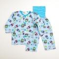きかんしゃトーマス 前ボタン ロールアップ式 腹巻付き長袖パジャマ 80-95cm (T7303)