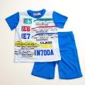でんたま(新幹線)半袖Tシャツ生地のパジャマ 100-130cm(732DM007112)