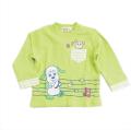 いないいないばぁっ! ワンワン&うーたん長袖Tシャツ グリーン色 80cm/90cm/95cm (W35109)
