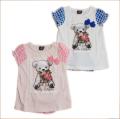 dollyribon フレンチキャミソール Tシャツ 子犬 女児 110-130cm(1520551)