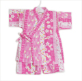 日本製生地使用の甚平スーツ ウサギ 女の子 90-95cm(9680-1700)
