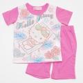 サンリオ ハローキティ  半袖Tシャツパジャマ 100-120cm(632KT07112)