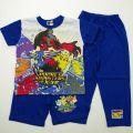 蓄光 ポケットモンスターXY 2パンツ☆半袖パジャマ ブルー 100-130cm  74S751-60