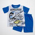 しんかんせん Tシャツタイプ半袖パジャマ ブルー100〜120cm(432SS001)