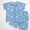 サンリオ しんかんせん半袖パジャマ 100〜120cmブルー(13728403-BU)