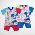 ディズニー ミッキー 半袖 腹巻付きパジャマ 80cm/90cm/95cm(A7208)