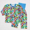 きかんしゃトーマス 前ボタン ロールアップ式 腹巻付き長袖パジャマ 80-95cm (T7601)
