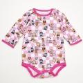 アンパンマン 長袖ボディスーツ コンビ肌着 ぬくいと ピンク色 (FA6011-P)
