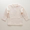 日本製 Souris(スーリー)ジャガードハイネックTシャツ 80cm-130cm(166189-266189-108)