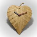 八ヶ岳倶楽部の白樺の木の葉がモチーフの壁掛け時計 【シラカバ木の葉 時計】