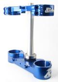RIDE ENGINEERINGトリプルクランプキット KX250F  06-12 ブルー(限定) 20mm オフセット