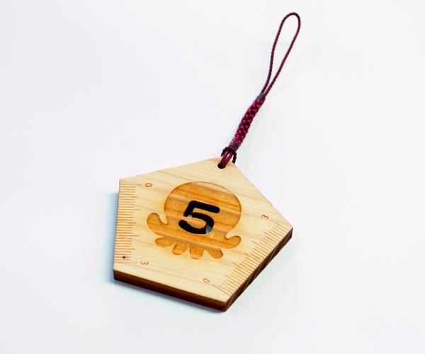 5を書く定規