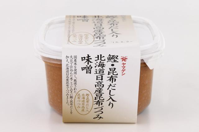 昆布の旨みたっぷり! 鰹昆布だし入り昆布つつみ味噌 750g【山元醸造/1390】