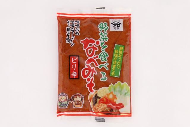 野菜を食べるなべみそ(ピリ辛)