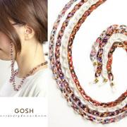 GOSH ゴッシュ アセテート グラスチェーン グラスコード グラスホルダー カラフル レディース 女性 おしゃれ